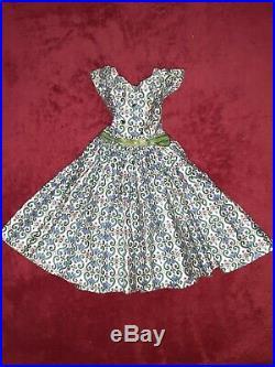 Vintage Madame Alexander CISSY Doll Rare Street Dress green