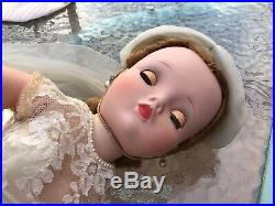Vintage Madame Alexander CISSY Doll in Complete Pink Bride Outfit Tagged 1956