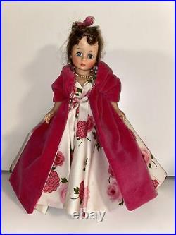 Vintage Madame Alexander Cissette Doll In Rare Camellia Gown, Velvet Coat, Shoes
