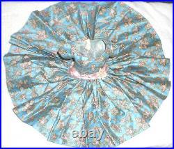 Vintage Madame Alexander Cissy Beautiful Blue Bird Print Dress