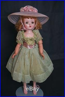Vintage Madame Alexander Cissy Doll 1958 Sheer Green tagged Outfit