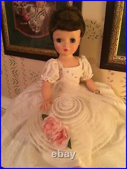 Vintage Madame Alexander Cissy Doll 20 Brunette 1950s Redressed