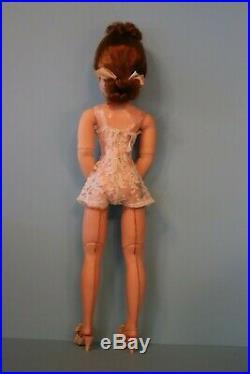 Vintage Madame Alexander Cissy Doll In Original Tagged Chemise1955