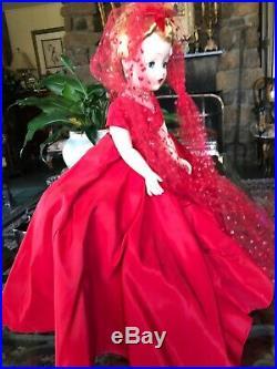 Vintage Madame Alexander Cissy Lady in Red
