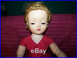 Vintage Madame Alexander Doll-20 Cissy In Red Dress