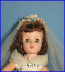 Vintage Madame Alexander Elise Bride Doll 1950's ORIGINAL PRETTY GOWN