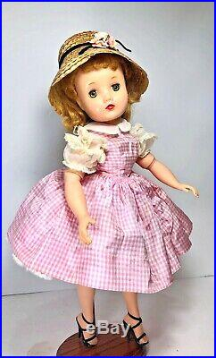 Vintage Madame Alexander Elise doll ballerina taffeta check dress tagged outfits