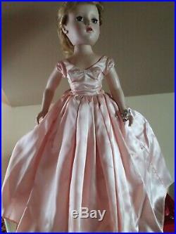 Vintage Madame Alexander Lady Churchill Doll Hard Plastic 1953 Tagged Dress