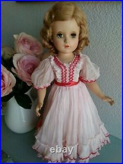 Vintage Madame Alexander Margaret 17 Doll, Tagged Dress, Mohair Blonde 1950s