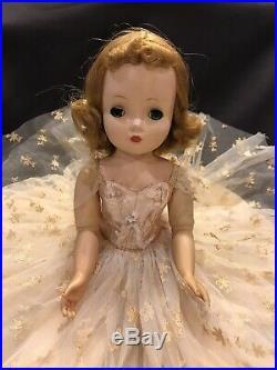 Vtg Madame Alexander Cissy Doll/20-Long Gown-Hose-Panties