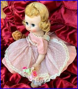 Vtg Madame Alexander Kins 1956 Bkw Triple Stitched Wig Excellent Condition